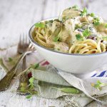 Chicken and olive pasta