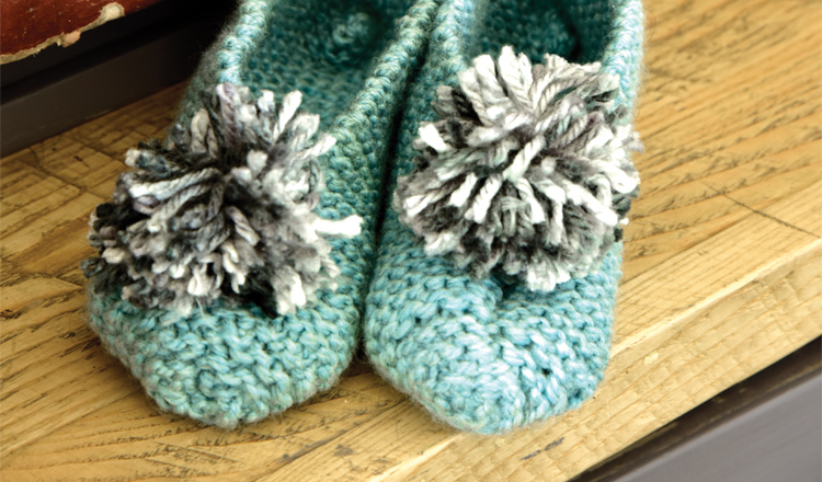 Knit slippers for the winter