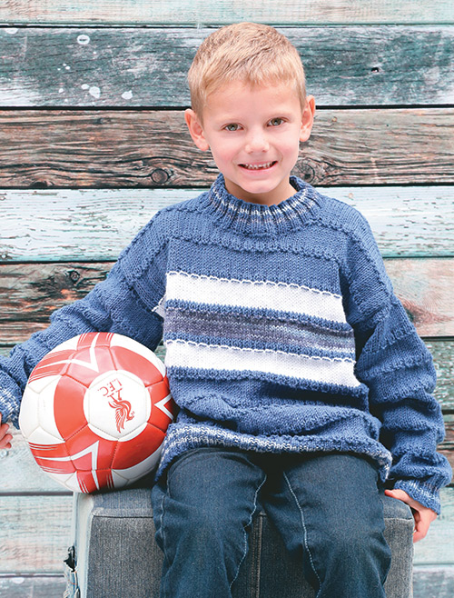 a989bfdea838c Knit an easy sweater for a boy from 1 to 12 years old