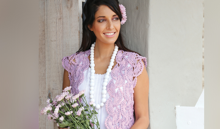 Crochet a classic lace top
